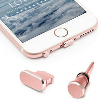 One Set Anti Dust Plugs for iPhone 8 Charging Port Plug & 3.5mm Earphone Plug with Case for Apple iPhone 8 Plus 7 X iPhone 6s 6(China)
