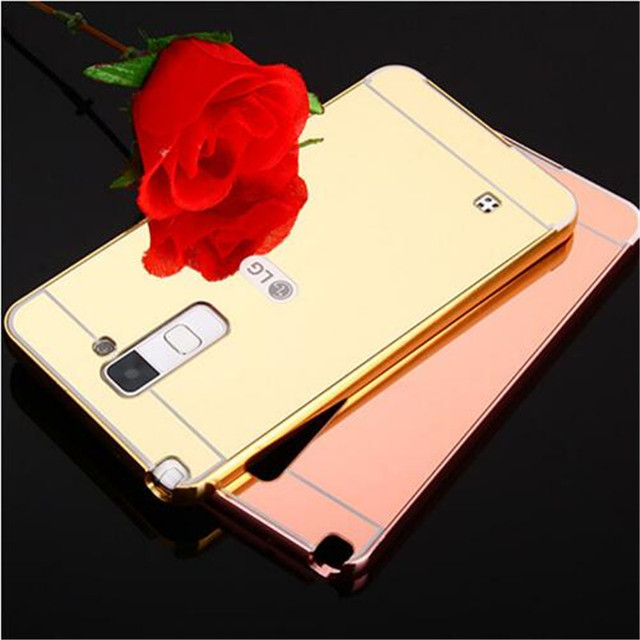 lg stylo 2 cases. fashion luxury rose gold mirror case for lg ls775 g stylo 2 shell back cover lg cases a