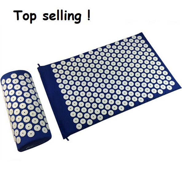 Massage Mat Body Massager cushion Acupressure Mat Relieve Stress Pain Acupuncture Spike Yoga Mat with Pillow Drop shipping free shipping massager body massage cushion back neck care acupressure shiatsu massager relieve pain physiotherapy equipment