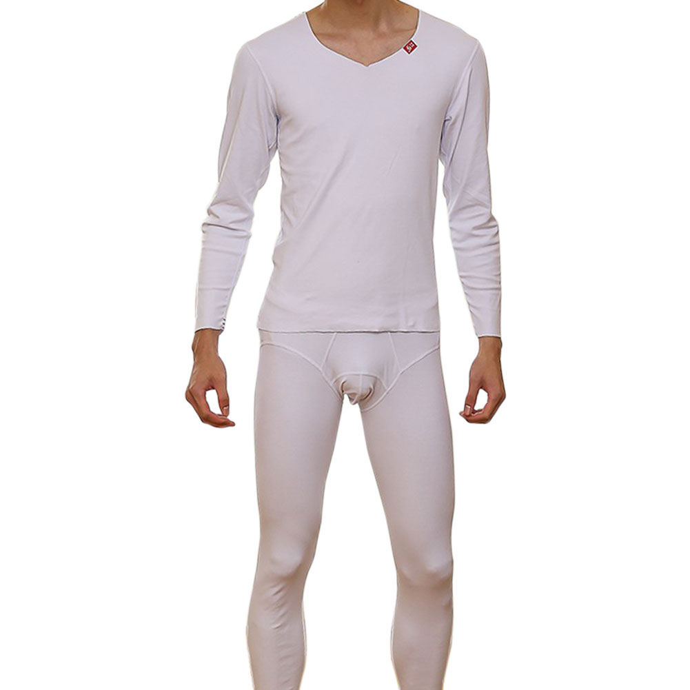 Winter Thermal Underwear Sets Suit For Men Cotton Pajama Sleep Bottoms Set Long Johns Bo ...