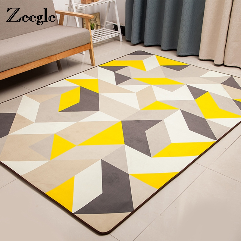 European Style Large Living Room Carpets Anti-slip Office Chair Floor Mats Bedroom Carpets Washable Childs Room Rugs