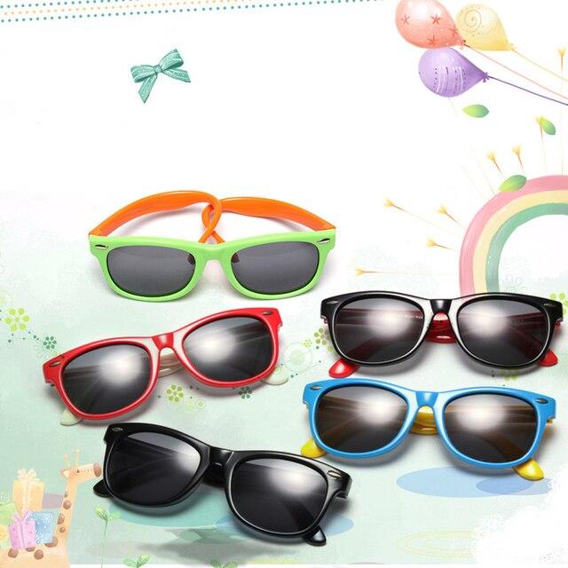 SUPER Bonito Quadro Óculos De Sol Para Crianças Meninos Meninas Óculos de Proteção  Óculos de Sol 6c8ed07099