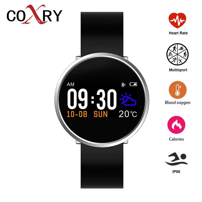 COXRY montre intelligente de fitness montres de sport Pour Hommes Podomètre Vélo Course De Natation Montre de Fréquence Cardiaque montres numériques Sang Pression