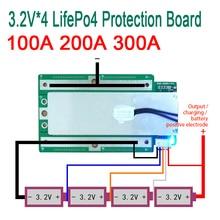 4S 100A 200A 300A 3.2V LifePo4 Litio Ferro Fosfato di Litio Protezione Bordo Bordo di Protezione 12.8V Alta Inverter Corrente BMS PCM moto auto di avvio