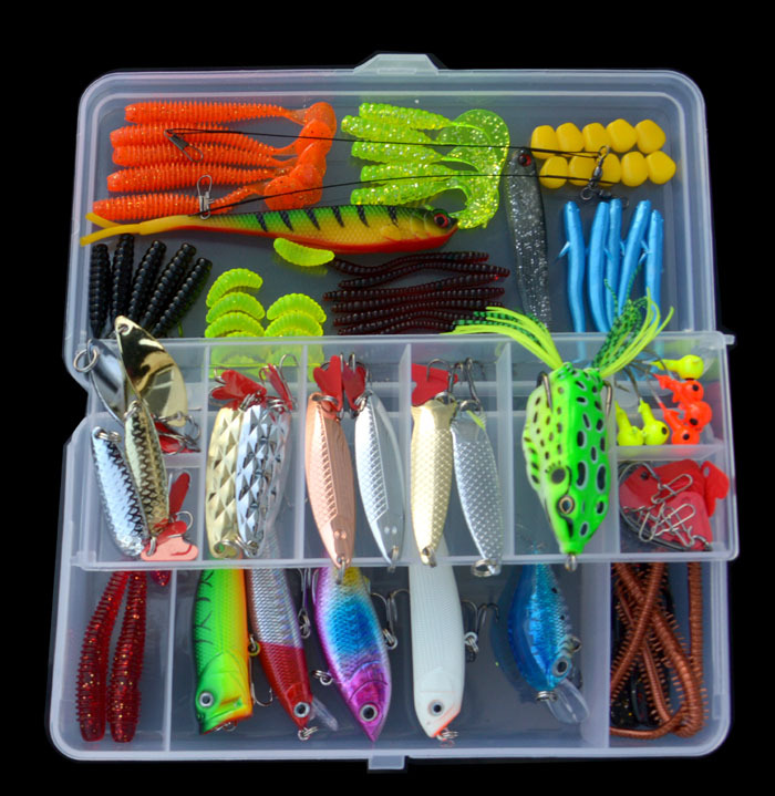 101pcs Fishing Lure Bait Set Spinner Spoon /Minnow/Popper/Wobbler Lure Soft Bait Fishing Lure Kit Isca Artificial Mixed 30pcs set fishing lure kit hard spoon metal frog minnow jig head fishing artificial baits tackle accessories