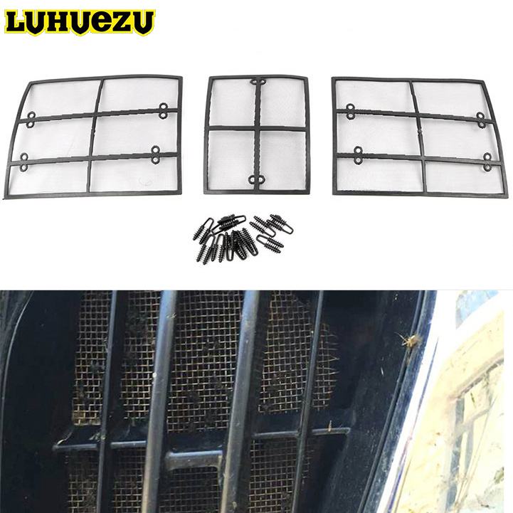 2010 2011 2012 2013 Car Insect Netting Mesh Front Grille Insert Net For Toyota Land Cruiser Prado 150  FJ150 Accessories hot sale abs chromed front behind fog lamp cover 2pcs set car accessories for volkswagen vw tiguan 2010 2011 2012 2013