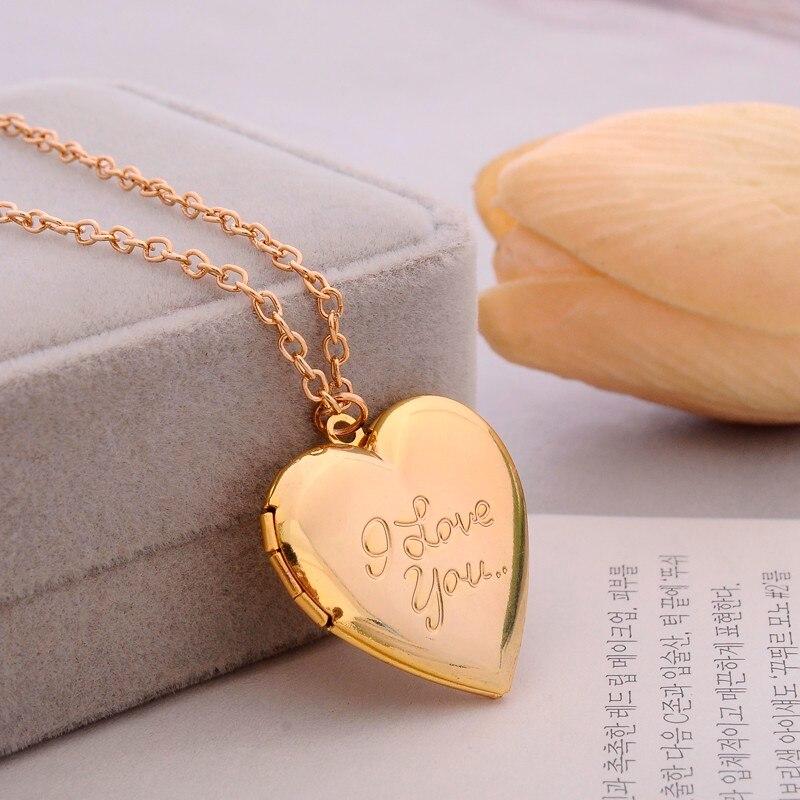crystal Medal Original Handmade Simple Six-color DIY Love Metal Carving Necklace Retro secret Pendant Photo Frame Custom Jewelry