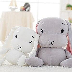 Image 2 - Lucky boy domingo 65/50/25cm coelho bonito brinquedo de pelúcia recheado macio coelho boneca bebê crianças brinquedos brinquedo animal aniversário presente de natal