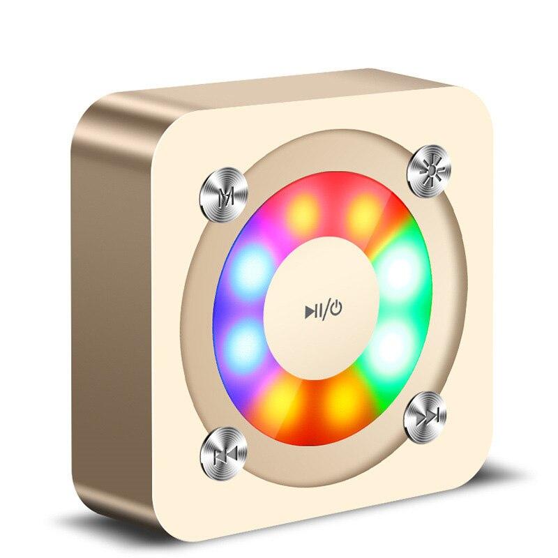 Crystal Wireless Bluetooth Speaker Portable LED Colorful Light Outdoor Auido Bass Speaker Stereo Music Sound Speaker Desktop MP3