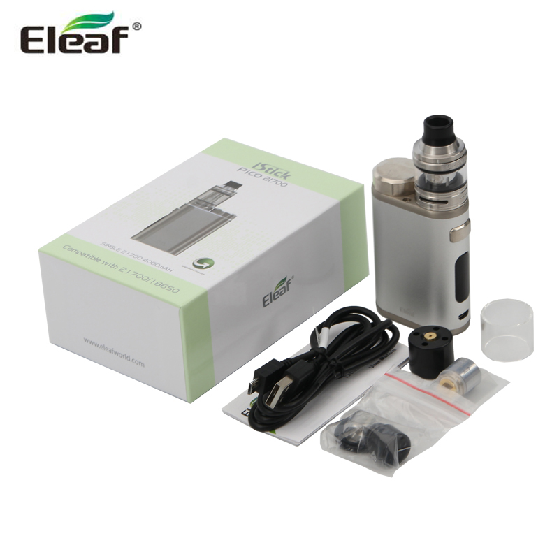 Original Eleaf iStick 21700 with ELLO Tank Kit 100W iStick BOX MOD Compatible with 21700/18650 Battery E Cigarette Kit