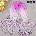 O envio gratuito de 2015 venda quente primavera e verão protetor solar cetim de seda chiffon xale cachecol longo fino mulheres elegantes lenços bufanda