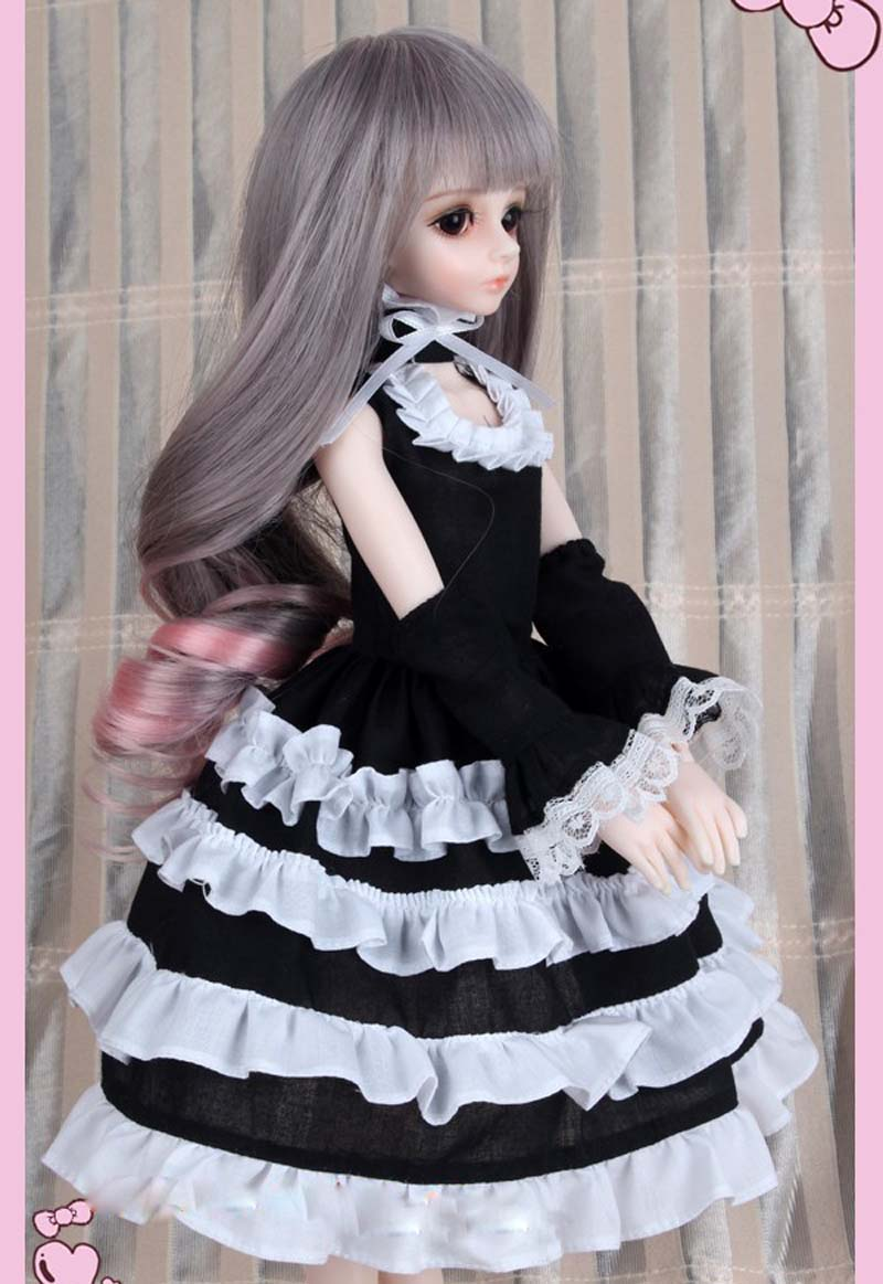 1/3 1/4 1/6  BJD Doll SD Clothes Volks Dod Soom Ai  Doll Dress For Girl Gift Free Shipping