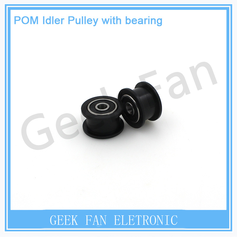 Delrin smooth Idler Pulley Wheel wheel kits precise CNC for v-slot POM Idler Pulley with bearing for 3D printer 3D0154