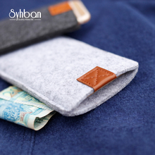 Wool Felt Wallet Mobile phone bag for samsung galaxyS9  S8 note7 Note6 note5 para galaxy bags for phone S8Plus cases Cover
