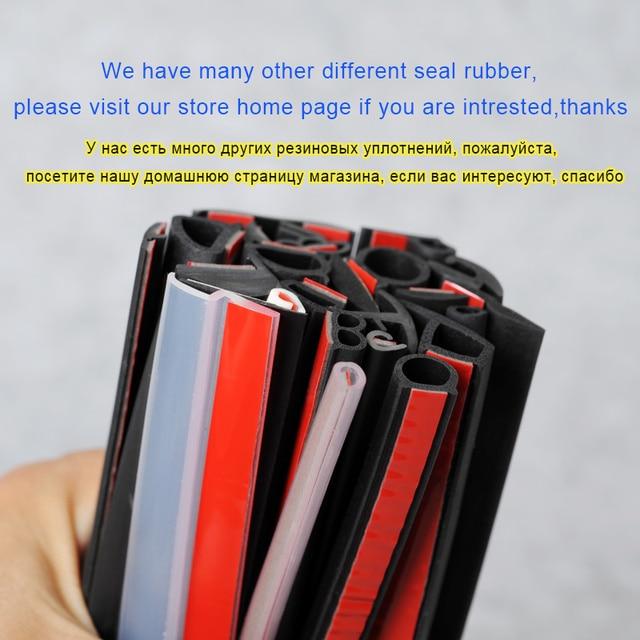 Z Type joint de porte de voiture isolation phonique joint d'étanchéité bande de caoutchouc garniture Auto joints en caoutchouc joint en forme de Z 4