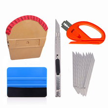 FOSHIO Vinyl Wrap Car Stickers Styling Magnet Squeegee Scraper Set Carbon Fiber Film Wrapping Cutter Knife Window Tint Tool