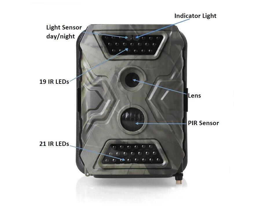 SMS Scouting Trail Camera 940nm IR LED Gravador de Vídeo Digital HD