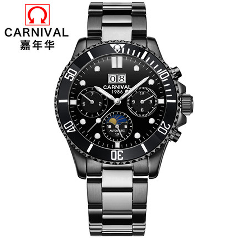 New Automatic Mechanical Watches Men Top Luxury Brand Carnival Sports Watches Sapphire Waterproof Men Watch Reloj hombre C8880-5New Automatic Mechanical Watches Men Top Luxury Brand Carnival Sports Watches Sapphire Waterproof Men Watch Reloj hombre C8880-5