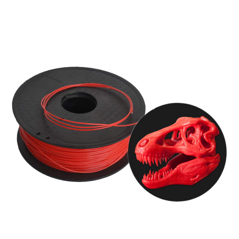 HIC 1.75mm Red PLA 3D Printer Filament - 1kg Spool (2.2 lbs) - Dimensional Accuracy +/- 0.05mm
