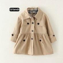 children girls hoodie jackets cotton baby girl trench jacket coat 2-8y children clothing windbreaker kids windproof outerwear