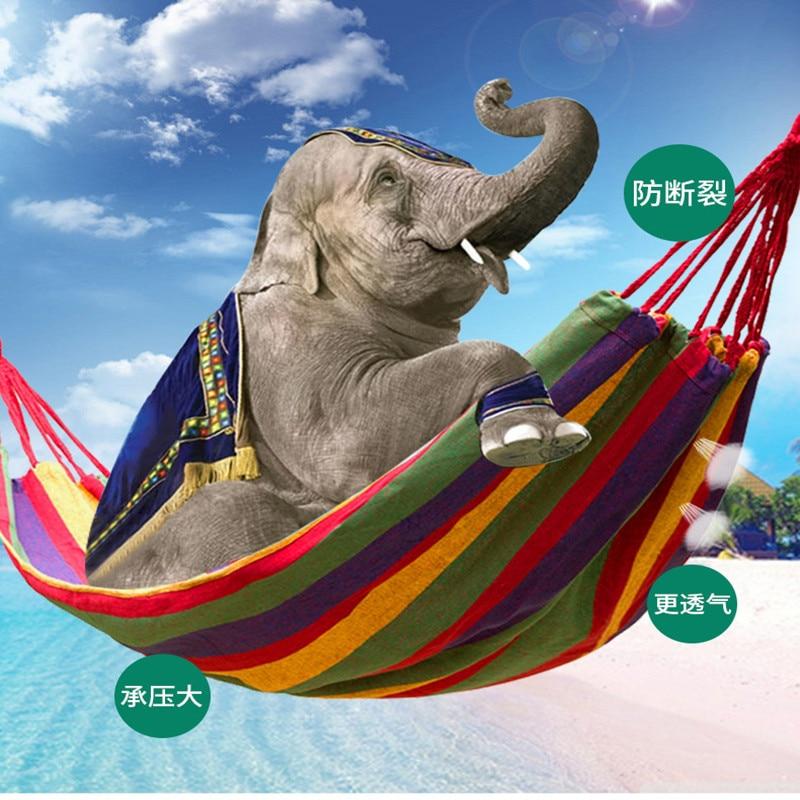 100PCS/LOT 280*150cm/80cm Hammock Hamac Outdoor Leisure Bed Hanging Bed Double Sleeping Canvas Swing Hammock Camping Una Hamaca