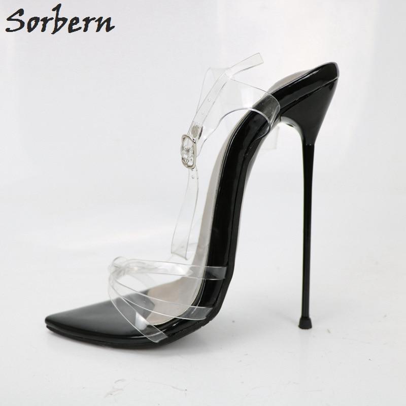 14 La Taille 50 Bretelles 35 Métal 16 Hauts Unisexe Les Plus Femmes Sorbern En Mince Sandales Talons Cm Stilettos Noir Pour Chaussures xwqFR1S0R