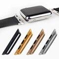 1 pc banda pulseira de relógio de metal sem costura adaptadores conectores 38/42mm para a apple watch para aço inoxidável iwatch