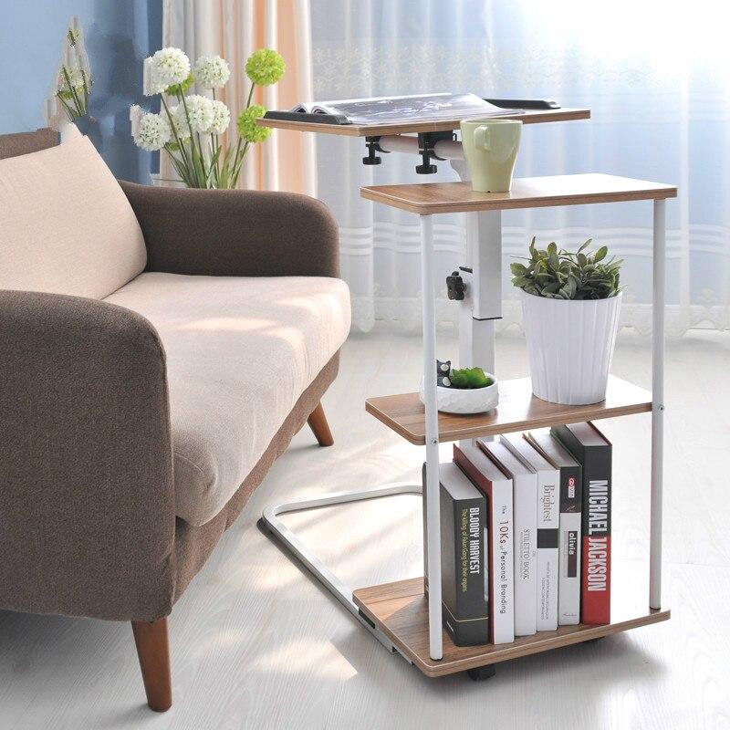 Простой движимого компьютерный стол sidebed складной стол компьютера