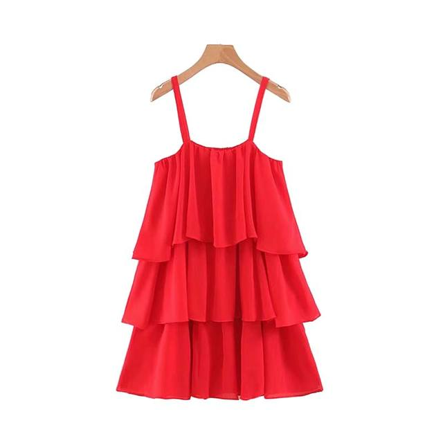 Women Sweet Red Mini Dress...