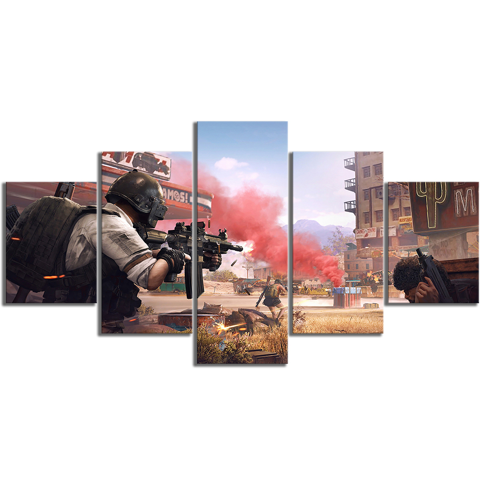 5 Piece Pubg Stimulate The Battlefield Video Game Poster HD Wall Pictures for Home Decor 3