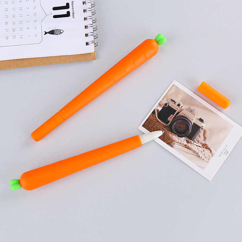 Creative Stationery gel Carrot stylus Neutral Pen customize 0.5mm Black Water Pens signature Pen