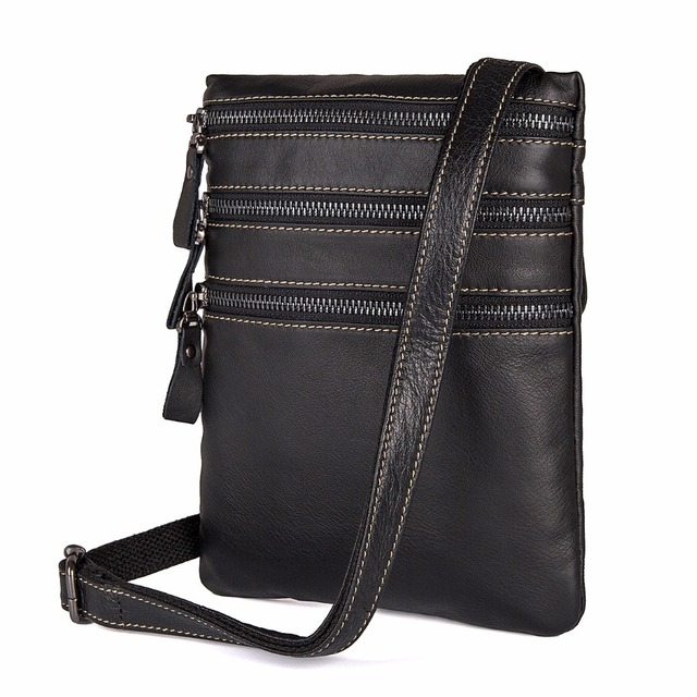 f86ed50351a0 JMD High Quality Cow Leather Mens Bag Three Layer Multi Pockets Shoulder  Bags Classic Messenger Bags