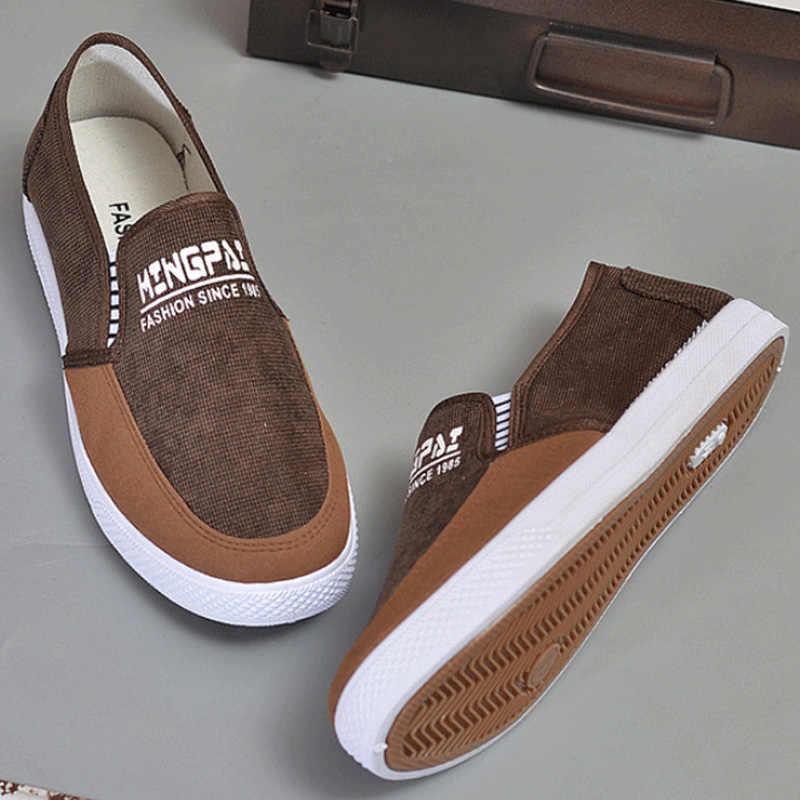 2019 Mode Mannen Schoenen Outdoor Sneakers Mannen Casual Schoenen Mannen Loafers Volwassen Canvas Schoenen Jeugd Wandelschoenen Comfort Trainers