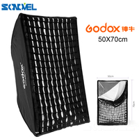 GODOX 50x70cm / 50*70cm / 20 * 27 Portable Square Umbrella Photo Softbox Reflector For Flash Speedlite