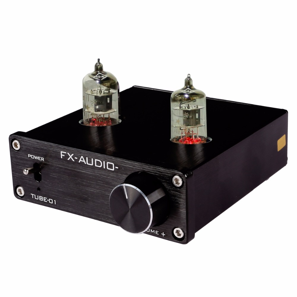 FEIXIANG FX Tube-01 Pre-Amplifier HIFI Stereo Buffer Preamp with Mini 6J1 Valve & Vacuum Tube mistral mm 6 150wx2 hybrid integrated power tube amplifier with pre out