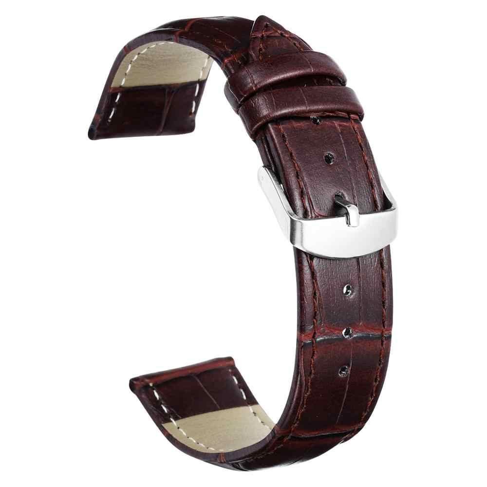 Dom pulseira de relógio macio bezerro falso couro pulseira 18mm 20mm 22mm pulseiras de relógio para masculino feminino acessórios de relógio pulseira
