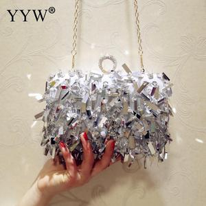 Image 1 - ゲリー女性結婚式の財布高級デザイナーのウェディングハンドバッグ指リングハンドバッグスパンコールイブニングパーティークラッチバッグゴシックラインストーン