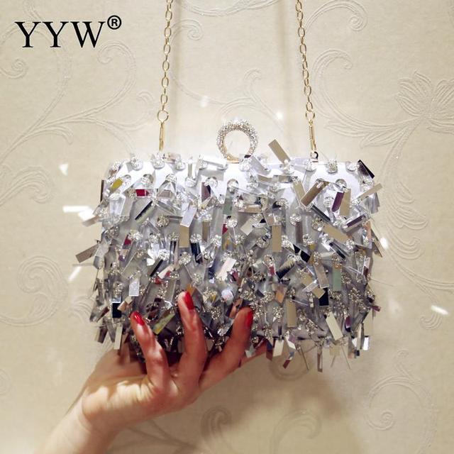 ゲリー女性結婚式の財布高級デザイナーのウェディングハンドバッグ指リングハンドバッグスパンコールイブニングパーティークラッチバッグゴシックラインストーン