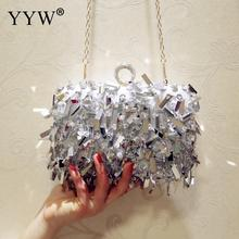 Gery Women Wedding Purse Luxury Designer Wedding Handbag Finger Ring Handbags Sequin Evening Party Clutch Bag Gothic Rhinestone