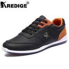 KREDIGE Transpirable zapatos de cuero de los hombres zapatos de goma diseño de la personalidad ocasional cómodo antideslizante zapatos de cordones de hombres 39-44