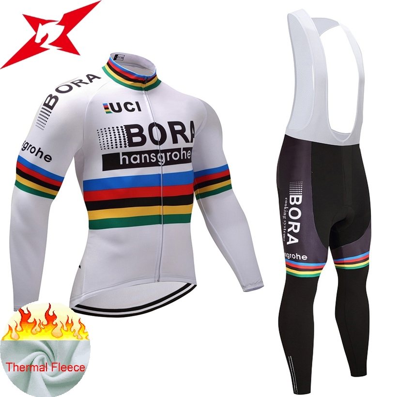 2017 winter team BORA pro cycling jersey pants set Ropa Ciclismo MTB thermal fleece windproof cycling wear bike clothing #604 veobike cycling jersey ciclismo 2017 pro team 8 style men s winter long sleeve bike set mtb bicycle wear ropa ciclismo invierno