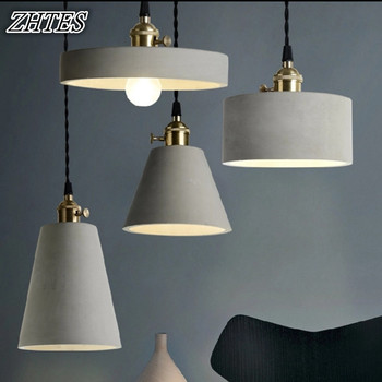 Retro Cement Chandelier Lighting Creative Restaurant Bar American Industrial Simple Personality Chandeliers