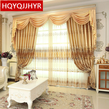 Custom Made European classic luxury embroidery curtains for Living Room / Hotel Window curtain Bedroom Window curtain kitchen