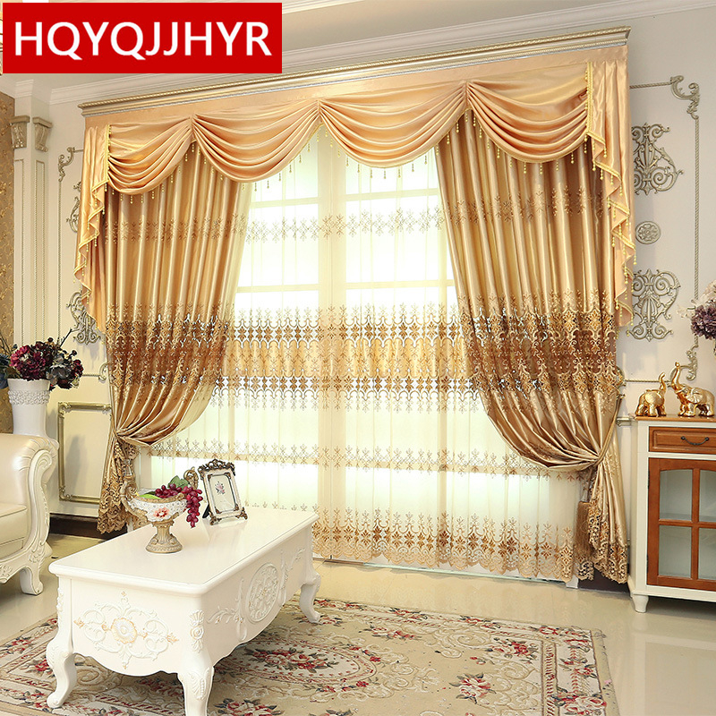 Custom Made European Classic Luxury Embroidery Curtains