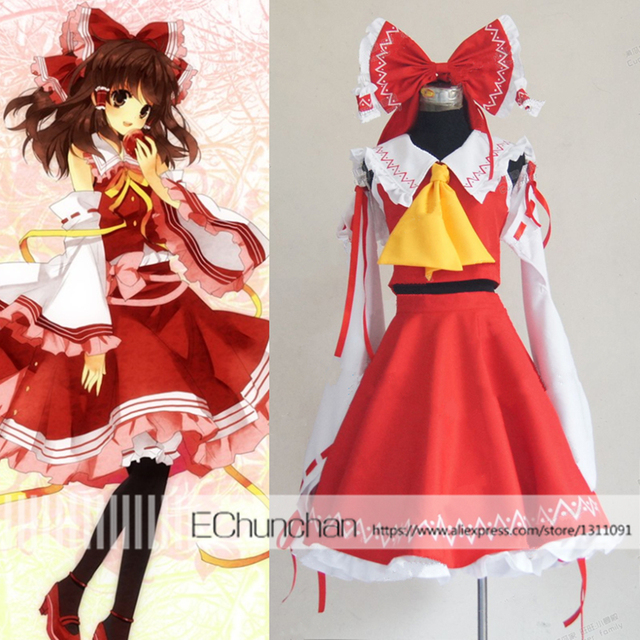 Halloween costume Touhou Project Reimu Hakurei Cosplay Costume Custom Made