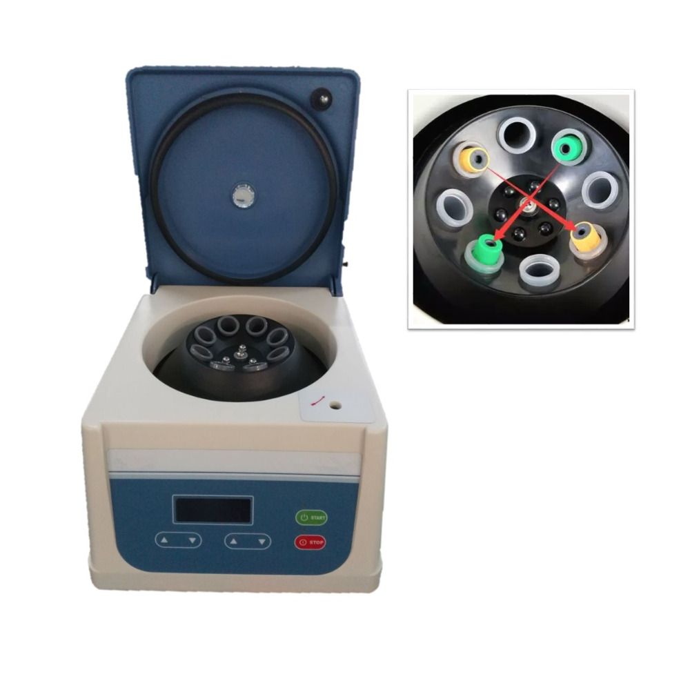 2018 PRP PRF centrifuge with angle rotor 8 tube 15ml fit for 5ml, 8ml, 10ml, 12ml, 15ml prp tube and PRP kit prf centrifuge platelet rich fibrin centrifuge blood prf for detistry maxillofacial surgery orthopedics plastic surgery