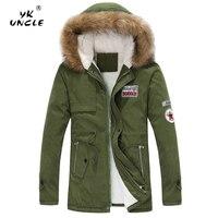 YK UNCLE Brand Men's Winter jacket 2018 New Fashion Windproof Warm Wool Liner Winter jacket Men Hooded Parka Men Winter Coat Men