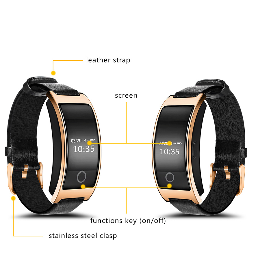 OLED surface intelligent hand ring smart band bracelet fitness 2017 bluetooth waterproof for iPhone samsung xiaomi