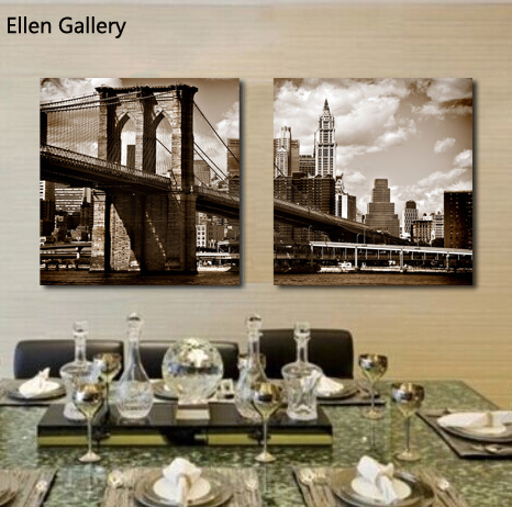 brooklyn bridge home goods wall art canvas painting. Black Bedroom Furniture Sets. Home Design Ideas