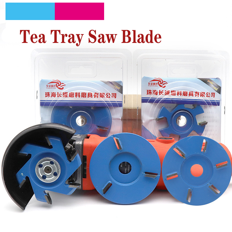 1pcs Woodworking Hexagonal Blade Tea Tray Saw Blade Multiple-type 16mm Aperture For Angle Grinder Wood Carving Grinder Disc
